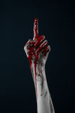 Bloody hand zombie demon Royalty Free Stock Image