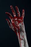 Bloody hand zombie demon Royalty Free Stock Photo