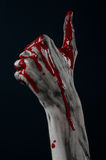 Bloody hand zombie demon Stock Photography