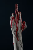 Bloody hand zombie demon Stock Photo