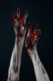 Bloody hand zombie demon Royalty Free Stock Photography