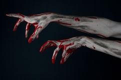 Bloody hand zombie demon Royalty Free Stock Photos