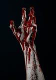 Bloody hand zombie demon Stock Photo