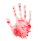 Bloody handprint Royalty Free Stock Images