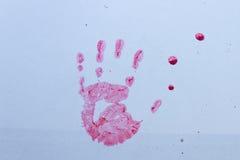 Bloody handprint Royalty Free Stock Image
