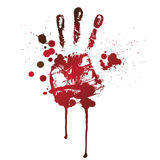Bloody handprint Royalty Free Stock Photography