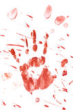 Bloody Handprint with Splatter Royalty Free Stock Photo
