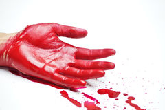 Bloody hands Royalty Free Stock Images