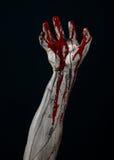 Bloody hands zombie demon Stock Image
