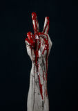 Bloody hands zombie demon Royalty Free Stock Photo
