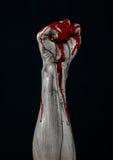 Bloody hands zombie demon Stock Photos