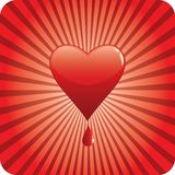 Bloody heart Stock Photography