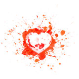 Bloody heart on red splashes and sports - vector illustration Stock Photo