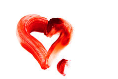 Bloody heart shape stain Stock Photography