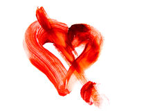 Bloody heart shape stain Stock Photo