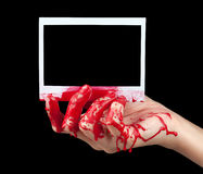 Bloody Instant Photo I Royalty Free Stock Photos
