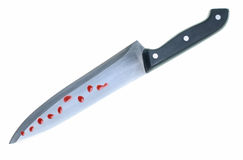 Bloody knife Royalty Free Stock Photo