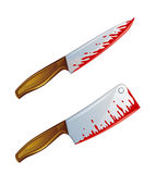 Bloody knife Royalty Free Stock Image