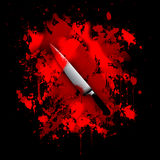 Bloody knife abstract background Royalty Free Stock Photos