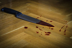 Bloody knife, Concept photo of murder and crime Stock Photography