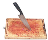 Bloody and knife Royalty Free Stock Image