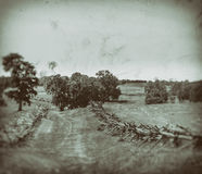 Bloody Lane. The Bloody Lane, Antietam National Battlefield, Maryland royalty free stock photography