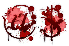 Bloody letter @ $ Stock Photography