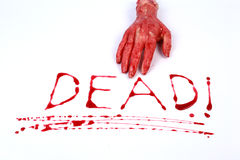 Bloody letters dead Royalty Free Stock Image
