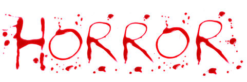 Bloody letters horror Royalty Free Stock Photos