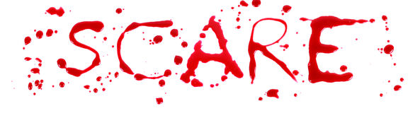 Bloody letters scare Stock Photography