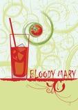 Bloody mary Abstracte verticale cocktailbanner Royalty-vrije Stock Afbeeldingen