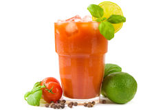 Bloody mary cocktail stock image