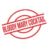 Bloody Mary Cocktail rubber stamp. Grunge design with dust scratches. Effects can be easily removed for a clean, crisp look. Color is easily changed Stock Images