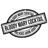 Bloody Mary Cocktail rubber stamp. Grunge design with dust scratches. Effects can be easily removed for a clean, crisp look. Color is easily changed Stock Photography