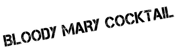 Bloody Mary Cocktail rubber stamp. Grunge design with dust scratches. Effects can be easily removed for a clean, crisp look. Color is easily changed Royalty Free Stock Photography