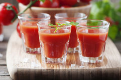 Bloody mary cocktail on the wooden table Royalty Free Stock Images