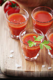 Bloody mary cocktail on the wooden table Stock Image