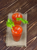 Bloody mary cocktails on wooden background. Bloody mary cocktails  on wooden background Stock Photography
