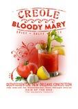 Bloody mary de Créole de collection de culture de la Nouvelle-Orléans images libres de droits