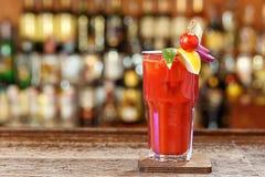 Bloody Mary em um vidro na barra Imagem de Stock Royalty Free