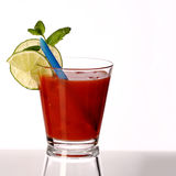 Bloody mary fresh Coctail isolated on white Stock Photo