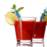 Bloody mary fresh Coctail isolated on white Royalty Free Stock Images
