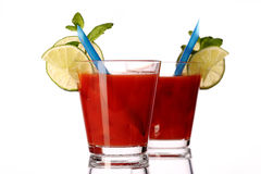 Bloody mary fresh Coctail isolated on white Royalty Free Stock Photography