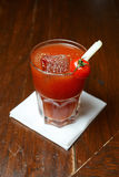Bloody mary in a glass royalty free stock photography