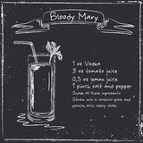 Bloody Mary. Hand drawn illustration of cocktail. Stock Photos
