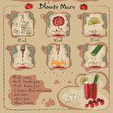 Bloody Mary. Hand drawn illustration of cocktail. Bloody Mary. Vector illustration Stock Image