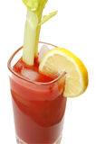 Bloody Mary with Lemon Isolated Royalty Free Stock Image