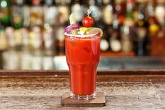 Bloody Mary mit Raum für Text stockfotos