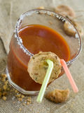 Bloody mary of tomatesap Stock Fotografie