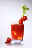 Bloody Mary or tomato juices. On gray background Stock Photos